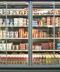 для пристенных холодильных витрин