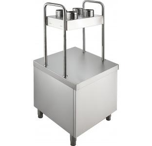 Прилавок для подносов и столовых приборов ПП-1-6-7С