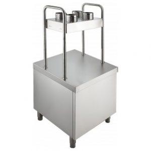 Прилавок для подносов и столовых приборов ПП-1-6/7СН