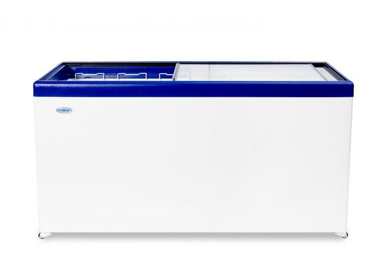 Морозильный ларь с прозрачной стеклянной крышкой МЛП-600
