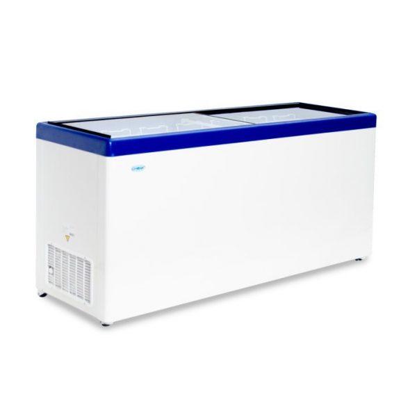Морозильный ларь с прозрачной стеклянной крышкой МЛП-700