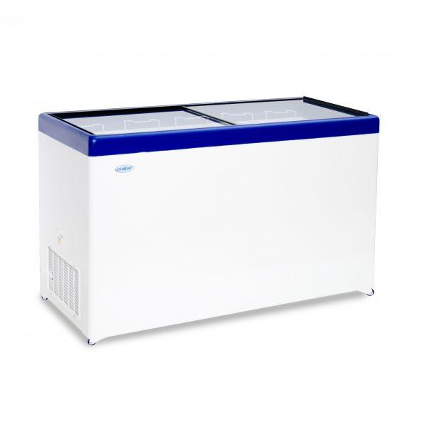 Морозильный ларь с прозрачной стеклянной крышкой МЛП-500
