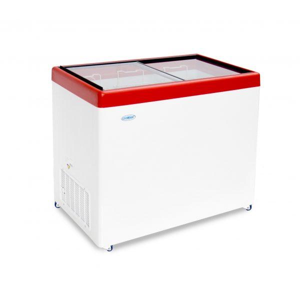 Морозильный ларь с прозрачной стеклянной крышкой МЛП-350