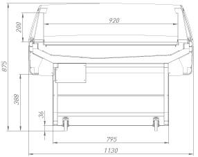 Холодильная витрина Aura 125