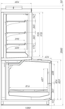 Морозильный шкаф-бонета Jason SE 250