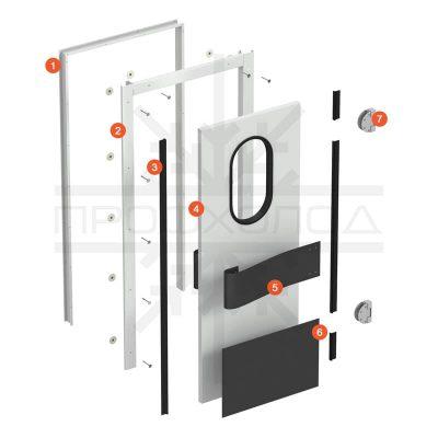 маятниковые двери конструкция