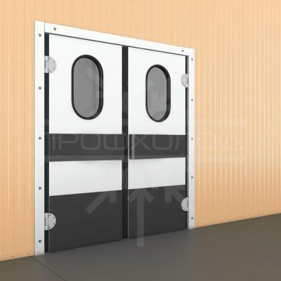 маятниковые двери закрытые двойные